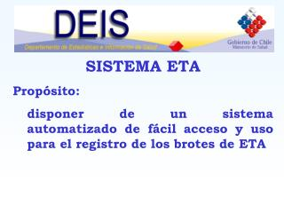 SISTEMA ETA Propósito: