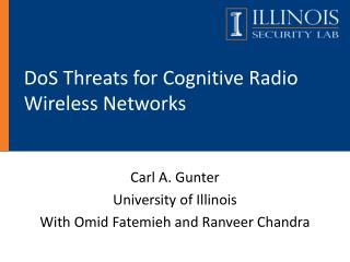 DoS Threats for Cognitive Radio Wireless Networks
