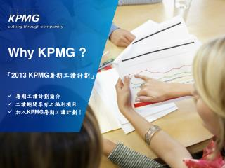 Why KPMG ?