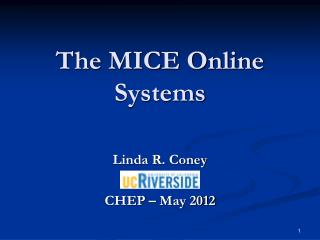 The MICE Online Systems