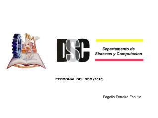 PERSONAL DEL DSC (2013)