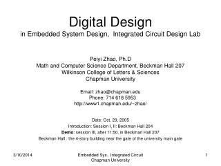112710 Embedded Sys. Integrated Circuit Chapman University