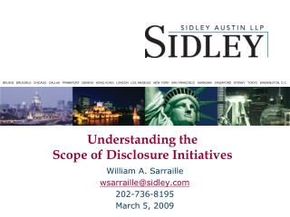 Understanding the  Scope of Disclosure Initiatives