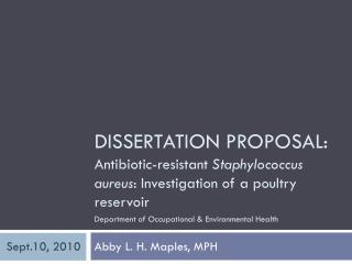 Dissertation Proposal: