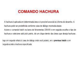 COMANDO HACHURA