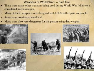 Weapons of World War I – Part Two