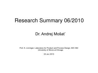 Research Summary 06/2010