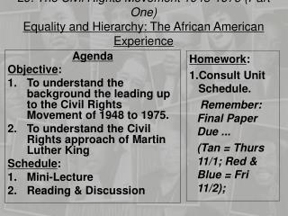 L9: The Civil Rights Movement 1948-1975 (Part One)
