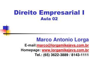 Direito Empresarial I Aula 02