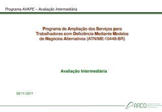 Programa AVAPE – Avaliação Intermediária