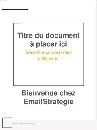 Bienvenue chez EmailStrategie