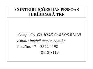 CONTRIBUIÇÕES DAS PESSOAS JURÍDICAS À TRF