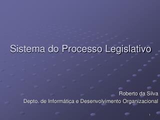 Sistema do Processo Legislativo