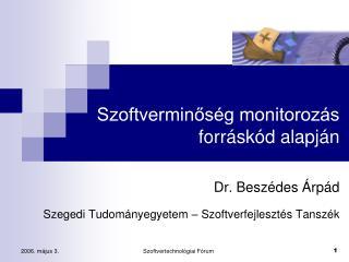 Szoftverminőség monitorozás forráskód alapján