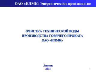ОАО «НЛМК» Энергетическое производство