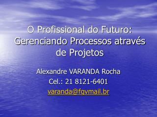 O Profissional do Futuro: Gerenciando Processos através de Projetos