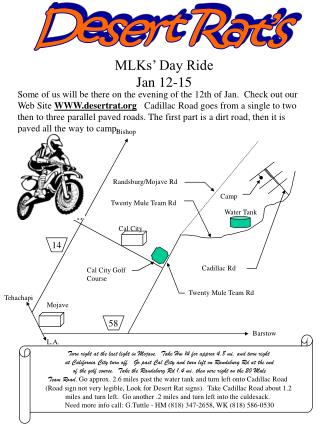 MLKs' Day Ride Jan 12-15