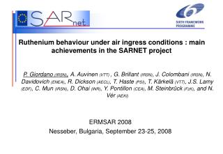 Ruthenium behaviour under air ingress conditions : main achievements in the SARNET project