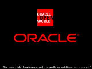 Jonas Jacobi Principal Product Manager Oracle Corporation
