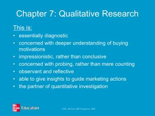 Chapter 7: Qualitative Research