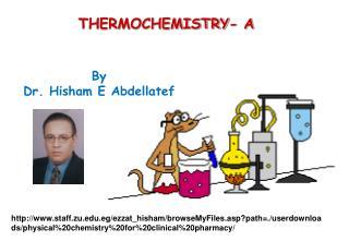 THERMOCHEMISTRY- A
