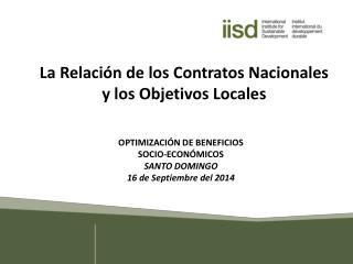 La Relación de los Contratos Nacionales y los Objetivos Locales