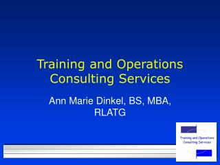 Training and Operations Consulting Services