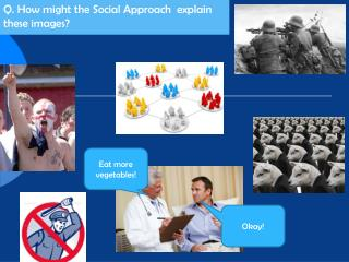 Q. How  might  the Social Approach   explain these images?