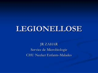 LEGIONELLOSE