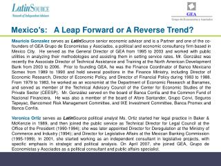 Mexico's:    A Leap Forward or A Reverse Trend?
