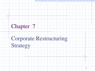 Corporate Restructuring Strategy