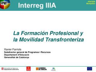 La Formación Profesional y la Movilidad Transfronteriza