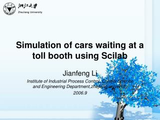 Simulation of cars waiting at a toll booth using Scilab