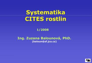 Systematika  CITES rostlin