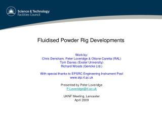 Fluidised Powder Rig Developments