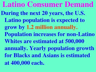 Latino Consumer Demand