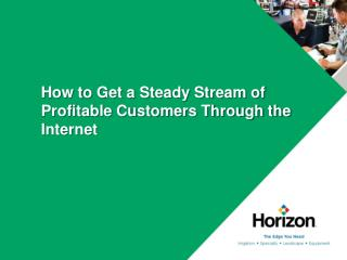 How to Get a Steady Stream of Profitable Customers Through the Internet