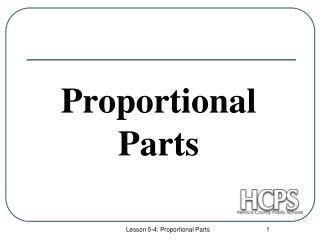 Proportional Parts