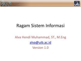 Ragam Sistem Informasi