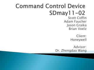 Command Control Device SDmay11-02