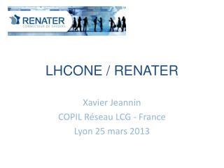 LHCONE / RENATER