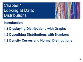 Chapter 1 Looking at Data: Distributions