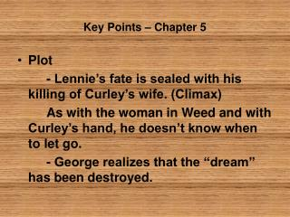 Key Points – Chapter 5