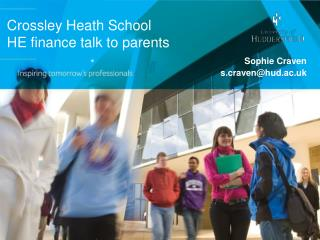 Crossley Heath School HE finance talk to parents