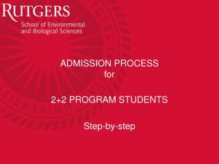 ADMISSION PROCESS for