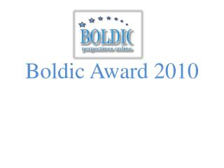 Boldic Award  2010
