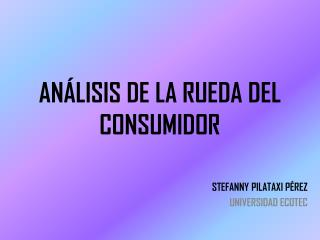 ANÁLISIS DE LA RUEDA DEL CONSUMIDOR