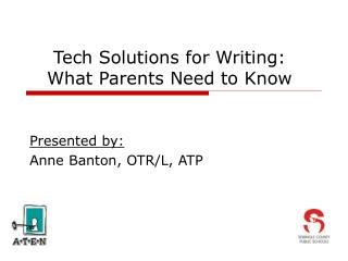 Tech Solutions for Writing: What Parents Need to Know