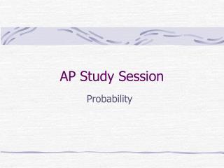 AP Study Session