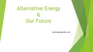Alternative Energy  &  Our Future